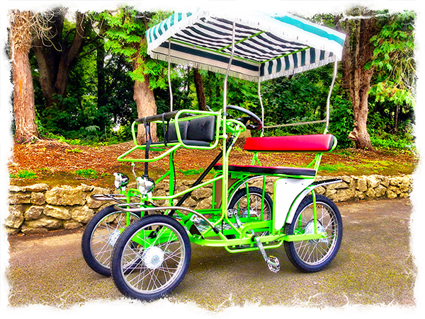 2 Seater Surrey Pedal Car